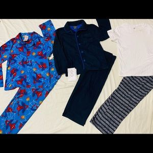 3pairs/sleep wearsets/pants/button downshirt size8